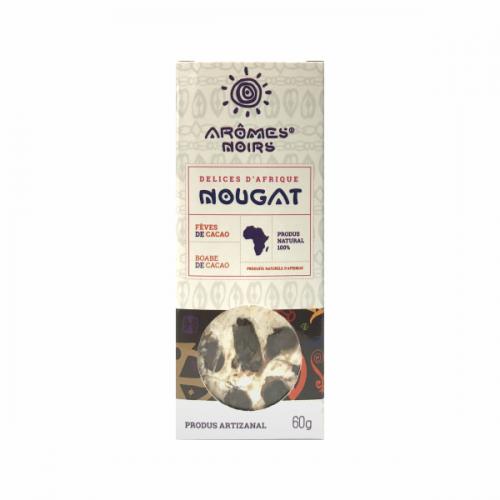 Nougat cu boabe de cacao 60G AROMES NOIRS