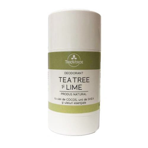 Deodorant natural cu tea tree si lime 70G TRIO VERDE