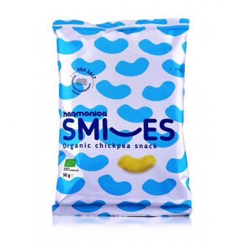 Pufuleti bio Smiles cu sare de mare 50G HARMONICA