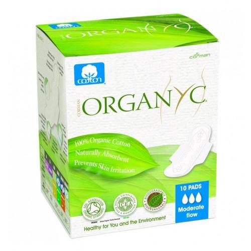 Absorbante intime pentru zi din bumbac organic 10BUC ORGANYC