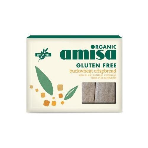 Crispbread din hrisca integrala fara gluten bio 120G AMISA