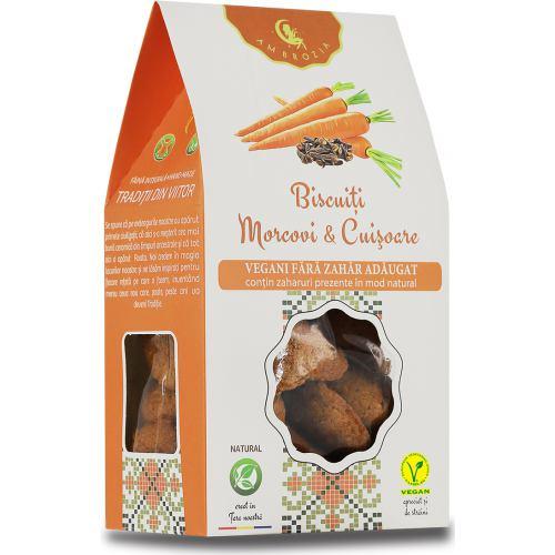Biscuiti vegani cu morcovi si cuisoare 150G HIPER AMBROZIA