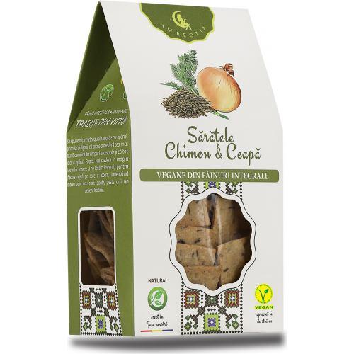 Crackers Vegani cu Chimen si Ceapa 125 g HIPER AMBROZIA