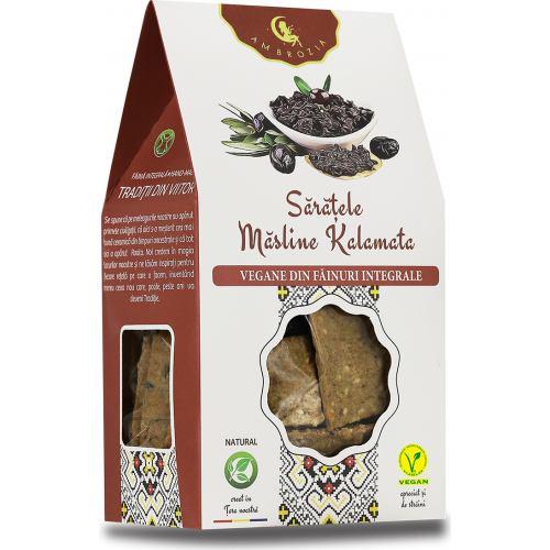 Crackers Vegani cu Masline Kalamata 125 g HIPER AMBROZIA
