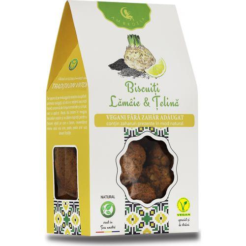 Biscuiti Vegani cu Telina si Lamaie 150 g Hiper Ambrozia