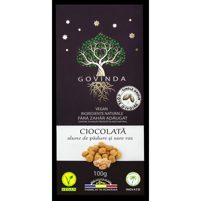 Ciocolata artizanala cu alune si sare 100G GOVINDA