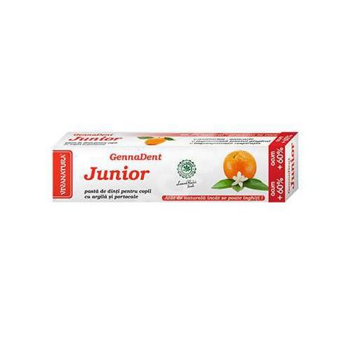 GennaDent Junior Pasta de dinti Cu Portocala 80ml VIVANATURA